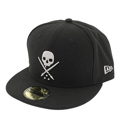 Sullen Clothing Herren New Era Fitted Cap Totenkopf Logo - Eternal Baseball Cap Schwarz (8 1/4)