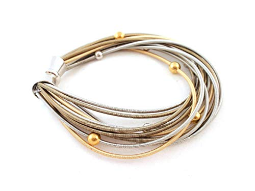 The Island Pearl Stainless Steel Piano Wire Bracelet
