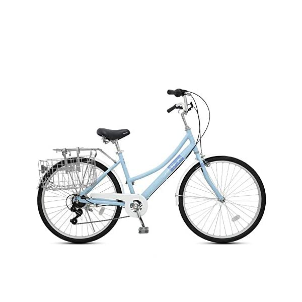 Comfort Bikes S.N S Bicycle Adult Ladies Speed Ordinary Retro Lightweight Bicycle 7 Speed 26 Inches [tag]