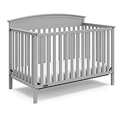 gray crib for nursery