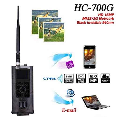 BXX Cámara de viaje al aire libre Cámara de caza Hc700G 3G 120Mm Gran Angular con Mms y Gprs-1080P Verdadero Hd 56 Micro 940Nm LED infrarrojo de visión nocturna y 2.5