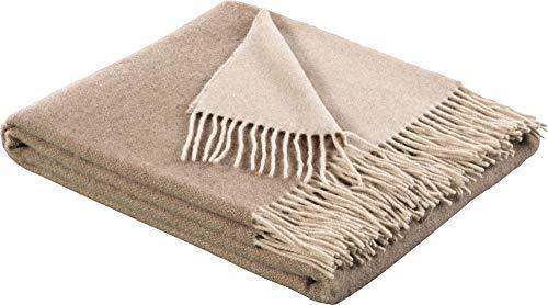biederlack Plaid | Natur-Sand - 130 x 170 cm