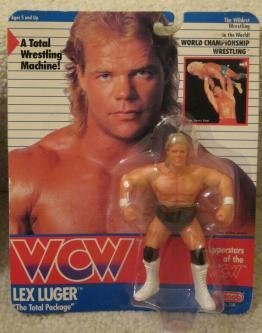 1990 Galoob Wcw Lex Luger the Total Package Action Figure