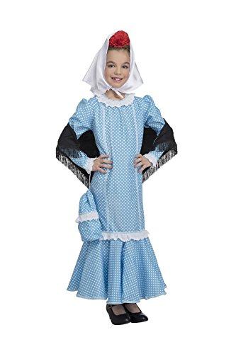 Disfraz de Madrileña Chulapa Azul (5-6 años)