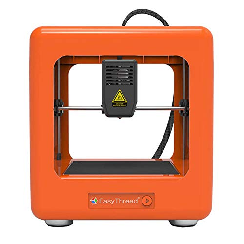 3D Printer, EasyThreed Mini Desktop 3D Printer DIY Kit with Slicing Software and Removable Build Platform for Beginners Kids Teens,Support One Key Printing,Portable Affordable Best Gift,Orange