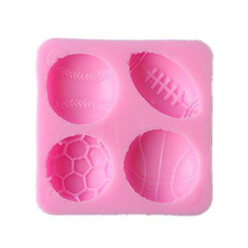 lzn Silikon Fußball Basketball Baseball Rugby Form Kuchenform Fondant Schokolade Modell Farbe Zufällig