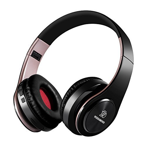 Wireless Headphones, Wediamond E1 Bluetooth Headset Stereo Foldable Sport Earphone Microphone Headset Handfree MP3 Player FM Radio (Rose Gold)