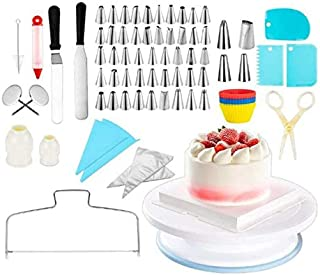 Beauenty Cake Decorating Kit, 106 PCS Baking Supplies With 11 Inch Cake Turntable, Icing Tips, Cake Spatulas, Pastry Tool...