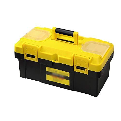 YIN YIN - Caja de almacenamiento de herramientas, material de protección ambiental de plástico, caja de piezas de automóviles domésticos, maleta de plástico, caja de herramientas de doble capa, caja d