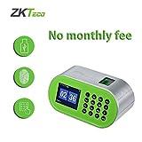 ZKTeco Desktop Fingerprint Time Clock, Biometric Attendance Machine Employee Recorder for Small Business (D1-Used)