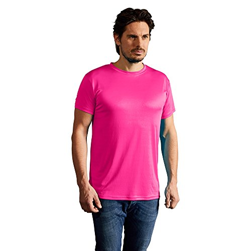 Promodoro Men's Performance-T-Shirt 100{c65d77f78bca2c80a6a52e303494448928b0b49a297ebb9357855517e9c3fdcb} Polyester, 125 g/m Antipilling-Ausrüstung, UV-Schutz XL Pink