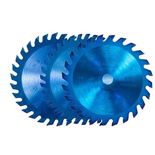 ZhengELE 1pc / 15mm 85x10 24/30/36 Dientes TCT Madera Hoja de Sierra Circular Azul Nano Revestimiento de Corte del Disco Punta de carburo Hoja de Sierra (Color : 85x15x24T, Size : 10PCS)