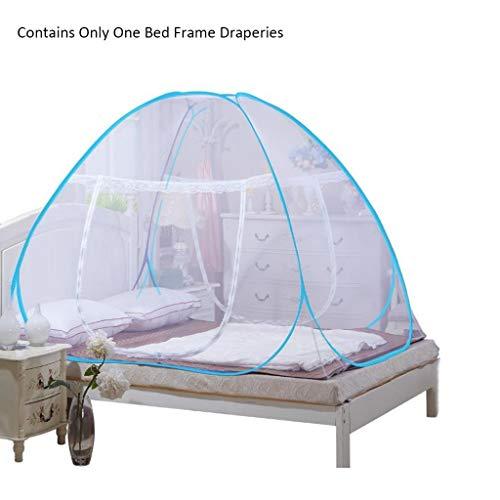 Moskitonetze Moskitonetz im Freien Mongolian Yurt Dome Net-Free Installation und Falten Moskito-Schutz verhindern Insektenzelt Vorhänge Langlebig Moskitonetze ( Color : Blue , Größe : 180*200*150cm )