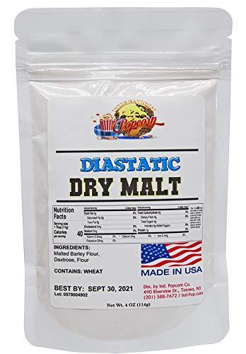 Diastatic Dry Malt Powder, 4 oz., Made in the USA, Diastatic, Malted Barley Flour