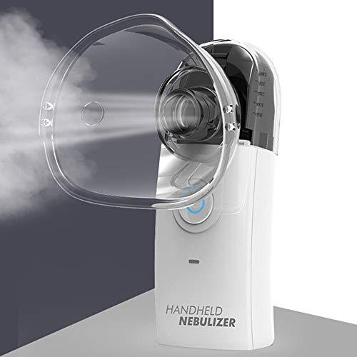 AMOLEY draagbare Mesh Atomizer Mini Cool Mist Sprayer voor volwassenen en kinderen, handheld luchtbevochtiger voor reizen of thuis dagelijks gebruik Zwart
