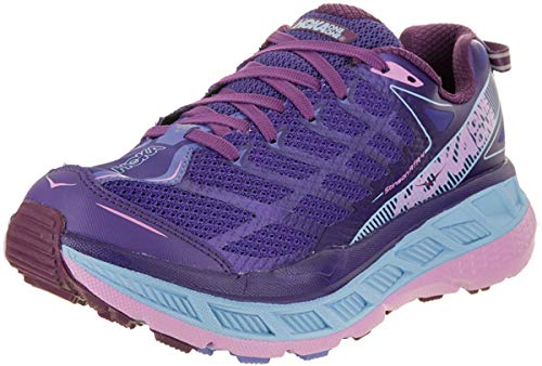 HOKA ONE ONE Women's Stinson ATR 4 Running Shoe (6 B(M) US, Deep Blue/Sky Blue)