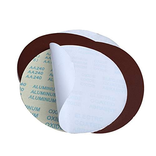 Rundes Schleifpapier / 300 mm (12 Zoll) hochwertiges Aluminiumoxid-Schleifmittel. Selbstklebendes Schleifpapier (selbstklebend) / Körnung 80 (6 Stück)