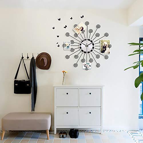 Stella Fella Personalidad Arte De Hierro Reloj De Pared Reloj De Sala Reloj Moderno Minimalista Creativo Dormitorio De Moda Mute Decoración Reloj De Pared De Cuarzo