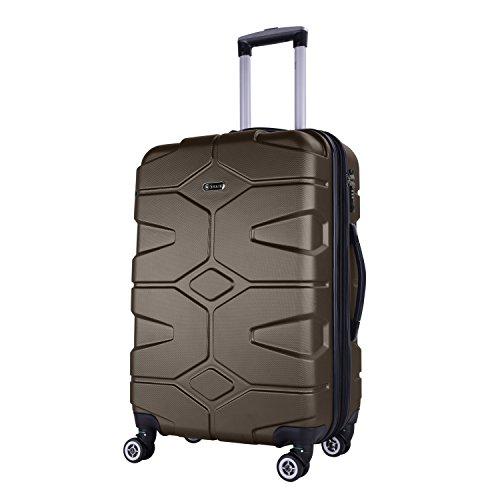 SHAIK SERIE RAZZER SH002 DESIGN PMI Hartschalen Kofferset, Trolley, Koffer, Reisekoffer, 4 Doppelrollen, 25% mehr Volumen durch Dehnfalte (Anthrazit, M - Handgepäck)