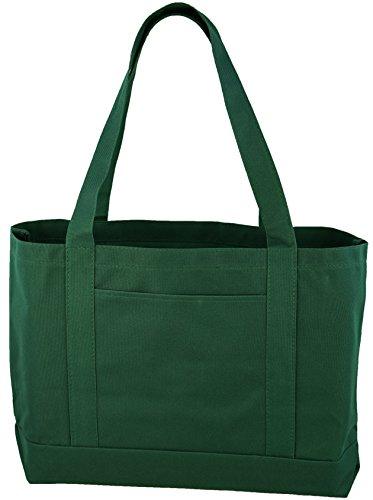 Daily Tote with Shoulder Length Handles and Outside Pocket