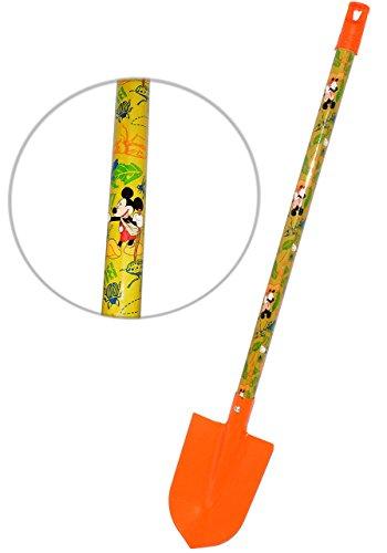 alles-meine.de GmbH Kinder - Schaufel / Spaten - aus Holz & Metall -  Disney Mickey Mouse  - 72 cm lang - Garten & Balkon - groß bunt Gartenwerkzeug mit Langen Stiel - stabile ..