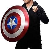 Getrichar Vengadores Marvel Capitán América Disfraz Escudo ABS 58 CM, Accesorios de película de Copia de Marvel, Disfraz de superhéroe para niño, decoración de Barra