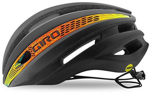 Giro Synthe MIPS Adult Road Cycling Helmet - Small (51-55 cm), Matte Grey Firechrome (2018)