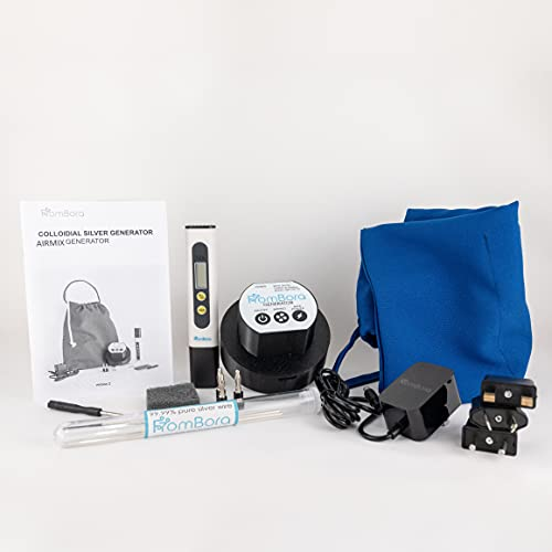Colloidal Silver Generator | Pure Silver Wire 99.99% | 9999 | Pure Colloidal Silver | FromBora Colloidal Silver Generator AirMix | Compatible with US, UK, EU, AU Power Plug
