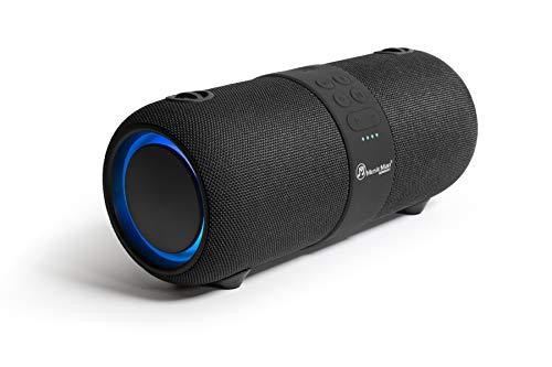 MusicMan Sound Blaster BT-X56 - Bluetooth V4.2, Stereolautsprecher, Sound, TWS Funktion, FM Radio, Mikrofon, Schultergurt, Party, USB, AUX IN, Mobile Soundstation, LED Beleuchtung.