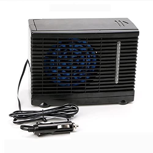 Aire acondicionado del coche Air Mini Cooler Aire Acondicionado Portátil Climatizador Evaporativo Frio Ventilador Humidificador Purificador 12V 60W Ventilador hielo hielo evaporativo enfriado