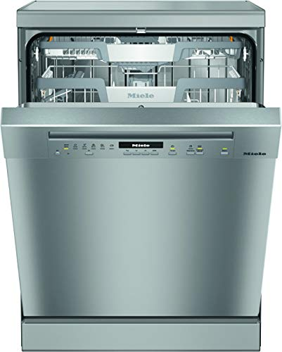 Miele G7102 SC Freestanding Dishwasher with AutoOpen Drying, 14 Place Settings, Clean Steel