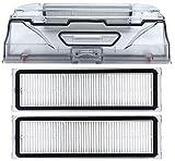 NICERE Partes de aspirador reemplazos caja de polvo filtro...