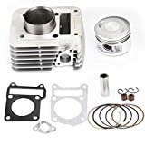 Areyourshop Cylinder Piston Rings Top End Kit Set for Yamaha TTR125 TTR125E 2000-2005