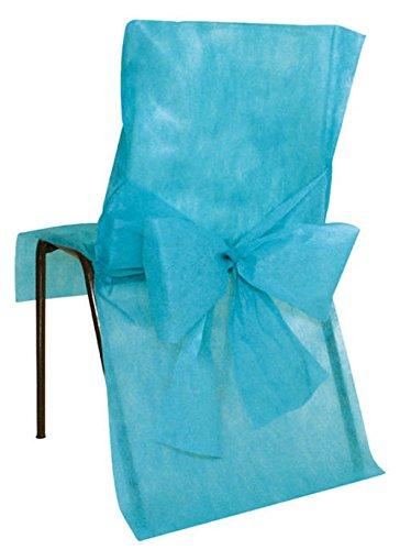 10 Housses de chaise Turquoise - taille - Taille Unique - 212661