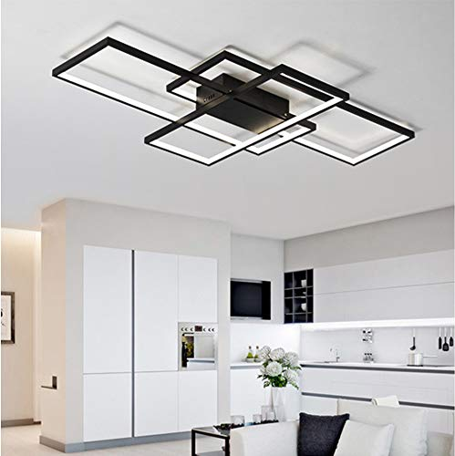LED Bedroom Ceiling Lights Modern Living Room Decor Flush Mount Ceiling Lamp Creative Square Design Chandelier Dimmable Fixture Remote Control Kitchen Island Dining Table Office Ceiling Lighting 65W
