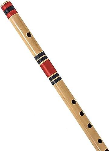 AIBANA Beginners Flutes Natural Medium Right Hand 7 Hole Bansuri Musical Instrument Size 19 inche C Natural