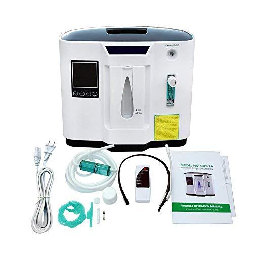 D&F Máquina De Oxígeno Portátil Concentrador Generador 1-6L / Min Ajustable Concentrador De Oxígeno Trabajo silencioso para Casa Viaje Coche Utilizar