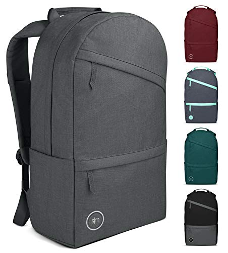 Simple Modern Legacy Backpack with Laptop Compartment Sleeve - 25L Travel Bag for Men & Women College Work School -Graphite