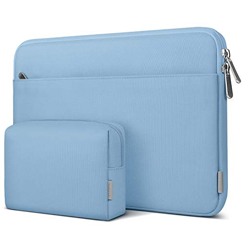 Inateck Laptop Case 13-13.3 Inch Sleeve Compatible Chromebook Notebook Ultrabook 13, MacBook Pro 13 2012-2015, MacBook Air 13 2010-2017, iPad Pro 12.9 inch 2020, Surface Laptop/Book - Ice Blue