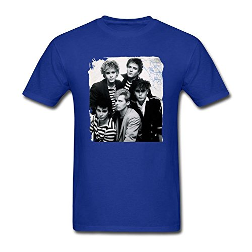Men's Duran Duran in the 80s T-shirt, Blue, X-Large