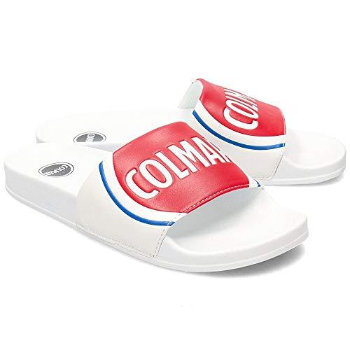 Colmar Originals Slipper Logo Herren weiß aus Polyurethan, Weiß - Bianco - Größe: 42 EU