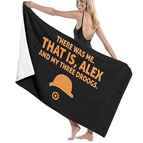 Una toalla de playa de microfibra con líneas de apertura naranja, para hombres y mujeres, de secado rápido, de gran tamaño, para piscina, baño, viajes, deportes, hotel (52 x 32 pulgadas)