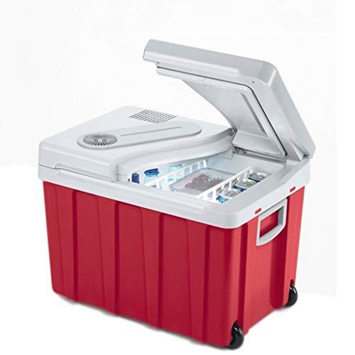 LFSP-minikoelkast Outdoor Camping Car Koelkast Refrigeration koelkast auto Car 12v24v220v 40L een grote opslagcapaciteit for Breast Milk Vriezer (kleur: Rood 40L, Afmetingen: Car + Truck)