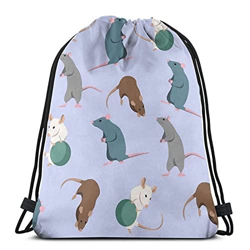 Necesita ratas con cordón bolsas de deporte gimnasio Backks almacenamiento Goodie Cinch Bag