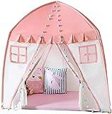 LAZ Enfants Jouer Tente bébé Jeu Maison de poupée en Toile Intérieur Extérieur Fold Maison Dentelle (Couleur : Pink)