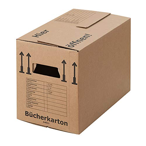BB-Verpackungen 30 x Bücherkarton Profi 500 x 300 x 350 mm (stabil 2-wellig, doppelter Boden, Aktenkartons aus recycelter Pappe) - Sets zwischen 5 und 250 Stück