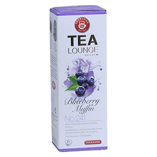 Teekanne Tealounge Kapseln - Blueberry Muffin No. 241 Schwarzer Tee (8 Kapseln)