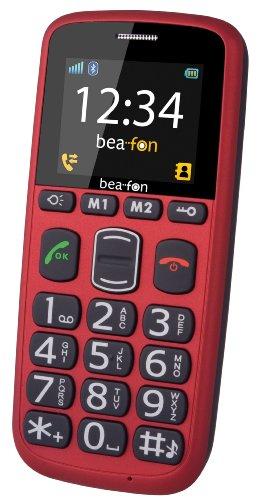 Beafon S35i Großtastenhandy (4,5 cm (1,77 Zoll) Bildschirm, Notruftaste, Bluetooth) inkl. Tischladegerät rot-gummiert