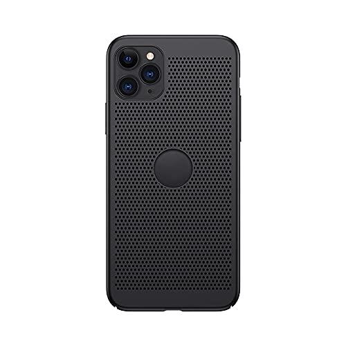 Case para iPhone 11/11 Pro Agua-Refrigerado Calor Disipación Teléfono Funda Micro-Mate Panal Grafeno Enfriamiento Transpirable Cubierta Ultradelgado Prueba Golpes Juegos D(Size:IP11PROMAX,Color:Negro)