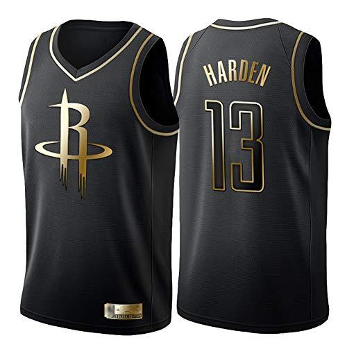 James Harden Camiseta de Baloncesto, Houston Rockets # 13 Ventilador de Bordado Juvenil Camiseta de Baloncesto sin Mangas Chaleco de Secado rápido Top astrong absorción del Sudor Limpieza repetible-